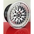 15x8 4 LUG UNIVERSAL CCW STYLE POLISHED WHEELS