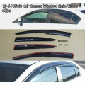 2012-214 Honda Civic 4dr Window Visors with clips for the Doors