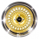 15x8 MST MT05 Gold with Polished Rims 4x100