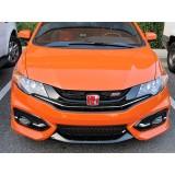 """2012-2015 Honda Civic Pair of """"H"""" Honda Emblems In Red"""