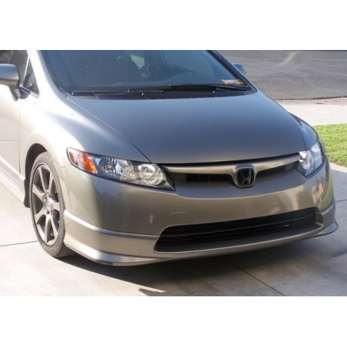 Poly hfp style front lip for 06 08 honda civic 4 door for 08 honda civic 4 door