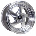 15x8  Avid1 AV19 Polished Rims 4x100  * Whistler Style