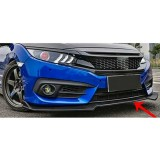 3 Piece Front Splitter Lip for 2016-2018 Civic 2 Door Coupe & 4 Door Sedan