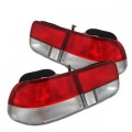 Red & Clear SI Style Tail Lights For 96-00 Civic Coupe