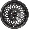 "15x8.5"" F1R F06 Concave Hyper Black Rims 4x100 4x114"