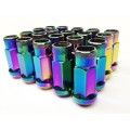 Extended Wheel Lug Nuts 20pcs 12x1.50 Neo Chrome