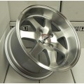 15x8 Ryver Si Style Deep Dish Machine Polished Rims 4x100