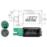 AEM 50-1220 E85 Compatible High Flow In-Tank Fuel Pump 320lph w/ Universal Kit