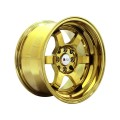 "15x8"" F1R F05 Bright Gold Deep Dish  Rims 4x100 4x114"
