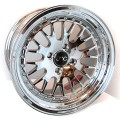 15x8 JNC 001  Platinum Chrome Polished Rims 4x100