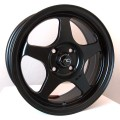15x6.5 JNC 018 Matte Flat Black Rims 4x100