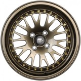 15x8  MST MT10 *  CCW STYLE POLISHED WHEELS * 4 LUG UNIVERSAL * BRONZE & GOLD