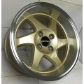 15x8 Ryver GSR Blade Style Deep Dish Gold Wheels with  Polished  4x100