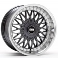 15x8 STR 606  Gunmetal With Polished Lip Rims 4x100 & 4x114.3