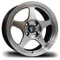 15x6.5  Avid1 AV08 Machined Polished Silver Rims 4x100