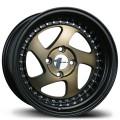 15x8  Avid1 AV19 Bronze Center with Black Lip Rims 4x100  * Whistler Style