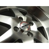 15x8 Ryver Si Style Deep Dish Machine Polished Rims 4x100