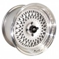 15x8 MST MT05 Silver with Polished Rims 4x100