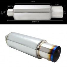 "4"" N1 Burnt Tip Muffler w/ 2.5"" Inlet (with Adjustable Silencer)"