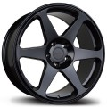 18x8.5 Avid1 AV38 Matte Black Wheels 5x114.3
