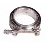 Universal Stainless Steel V-Band Turbo Downpipe Exhaust Clamp & Flange Set