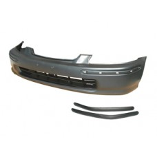 SIR Replica Front Bumper with moldings for 96-98 EK