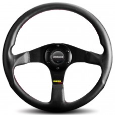 Momo Tuner Steering Wheel 350mm Black with Red Stitch