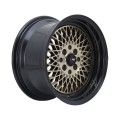 16x8 F1R F01 Super Mesh Style Wheels * Bronze with Black Lip